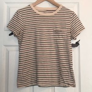 Striped Madewell pocket tee